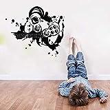 Jugador de armas vinilo pared pegatina juego abstracto avión animación niños habitación dibujos animados
