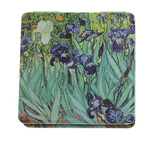 Value Arts Miroir de maquillage de voyage compact avec motif irlandais de Van Gogh 6,3 cm carré