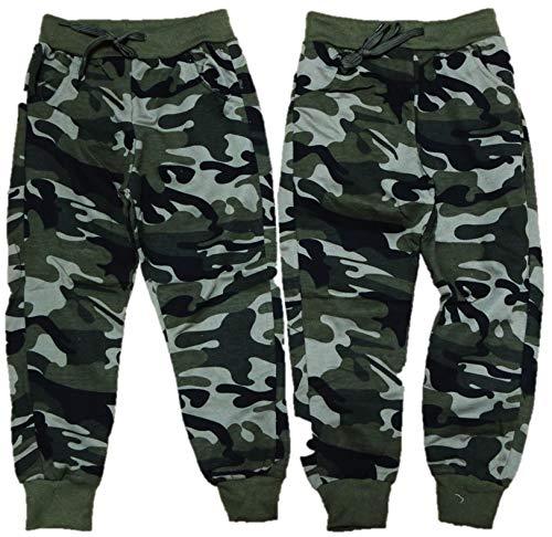 VanessasShop Joggingbroek voor jongens, camouflage in de maten 104-164