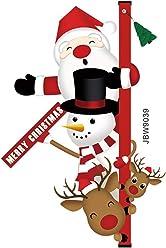 Feste di Natale per Ragazzi QKURT Xmas Set Cappello di Natale Cappello da Babbo Natale in Tessuto Non Tessuto con Cravatta a LED da 4 Pezzi per Bambini Ragazze per Adulti