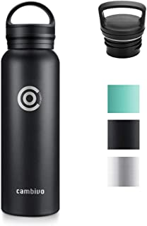 Cambivo C520 water-bottle, 20 oz (591ml) Standard Mouth, Black