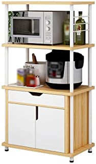 HYYDP étagère Cabinet Shelf Organisation étagère de Rangement Casiers, Bakers Rack Micro-Ondes Support Cuisine étagère de ...
