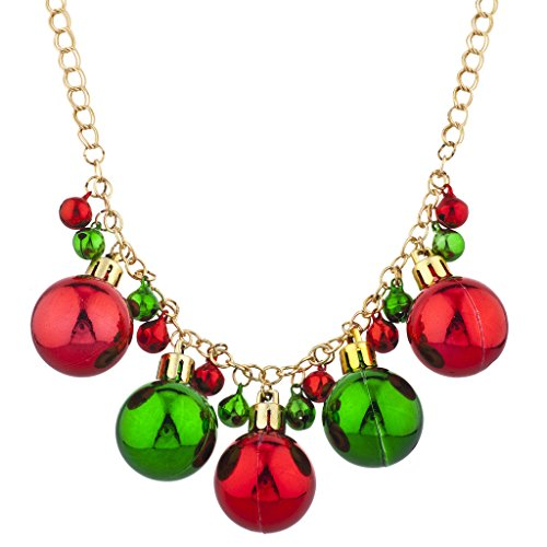 Lux Accessories Gold Tone Christmas X-Mas Holiday Jingle Bells Necklace