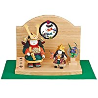 五月人形 子ども大将 平飾り 木目込み 一秀 幅40cm [i-m5]