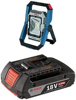 Bosch GLI18V-1900N 18V LED Floodlight (Bare Tool), Blue with 2.0 AH battery