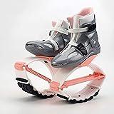 GHYGHY Kangoo Jump Boots para Adultos, Zapatos De Salto, Zapatos De Rebote, Saltos De Fitness Unisex, Zapatos De Baile, Ejercicio, Uso En Interiores Y Exteriores,Pink-M(33-35)