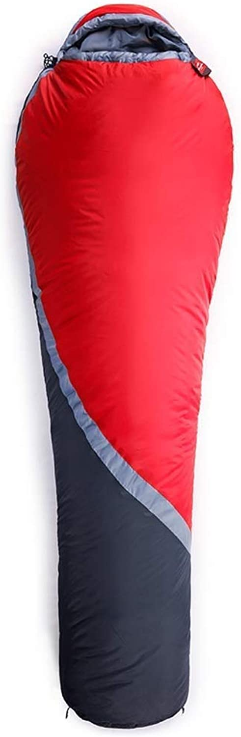 ZAQXSW Sleeping Bag Travel Outdoor Adult Winter Thick Warm Tent 0 Degree Dirty (color   Red)