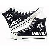 eaodz Naruto High-Top Canvas Shoes Zapatillas para Hombre Canvas Shoes Anime Cosplay Unisex Lona Zapatos de Lona