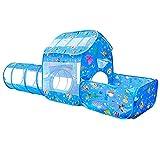 3 en 1 Parque Infantil Pop-up,Tienda de Campaña para Niños Pequeños + Túnel de Rastreo + Piscina de Bolas,Túneles para Niños y Tiendas de Campaña para Bebé Interior/Exterior