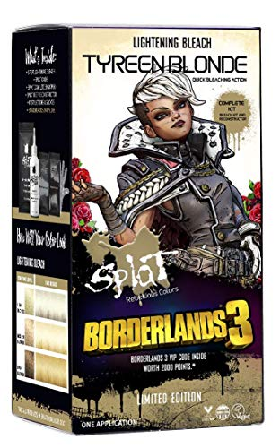 Splat | Borderlands 3 | Tyreen Blonde Lightening Bleach | Complete Hair Dye Kit | Semi-Permanent | 30 Wash | Vegan and Cruelty-Free