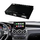Road Top Retrofit Kit Decodificador con CarPlay inalámbrico y Android Auto Mirror Link Navigation para Mercedes Benz C GLC W205 C350E, GLC250, GLC300, C63 AMG 2015-2018 Año Coche
