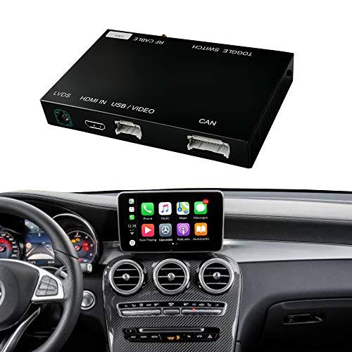 Road Top Retrofit Kit Decoder mit drahtlosem CarPlay und Android Auto Mirror Link Navigation für Mercedes Benz C Klasse W205 GLC Klasse C350E, GLC250, GLC300, C63 AMG 2015-2018 Jahr Auto