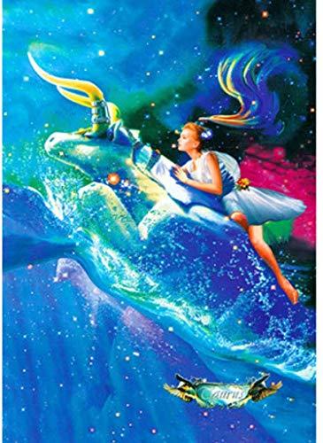AQAAQ Rompecabezas 500 Puzzle Jigsaw Piezas En Adultos Y Niños Wooden DIY Classic Juguetes De La Descompresión Princesa Y El Mar Juego Educativo De Madera Regalos