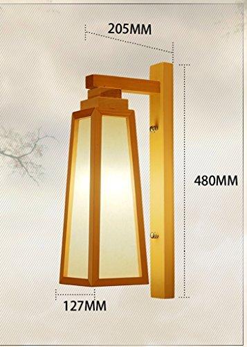 In japanischen Stil Wandleuchte einfache und moderne chinesische Korridor von Massivholz Balkon Beleuchtung Schlafzimmer Nachttisch Wandleuchte Login Grandi