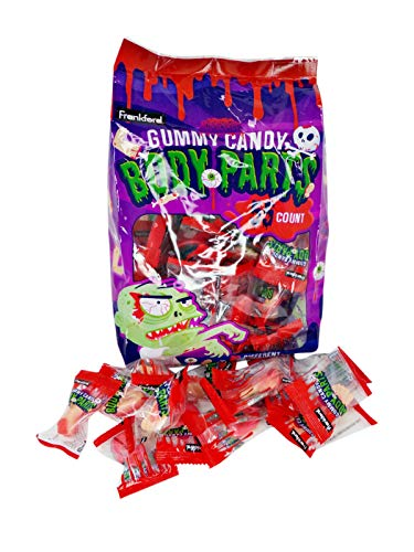 Frankford Halloween Gummy Candy Body Parts, 55 Count Bag