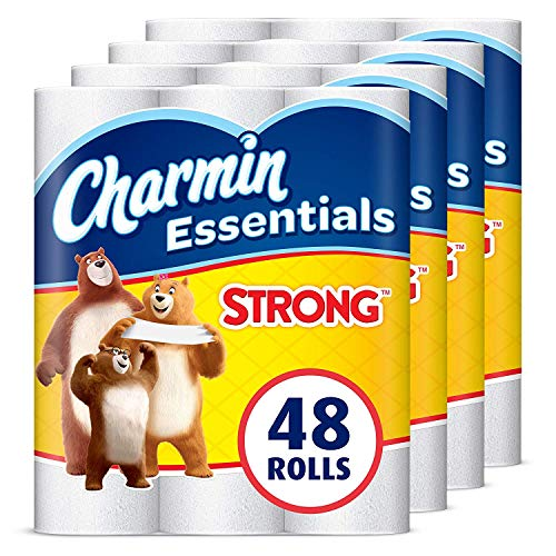 Charmin Essentials Strong Toilet Paper, 1-Ply, Giant Rolls, 48 Count