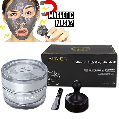 Gray Face Mask,Gray Magnetic Mask,Mineral-Rich Face Mask,Deep Cleansing Mask,Anti-aging,Anti-stress,Moisturizing Mask for Women and Men 50 ml