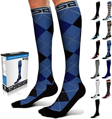 SB SOX Lite Compression Socks 15 20mmHg for Men Women BEST Stockings for Running Medical Athletic product image