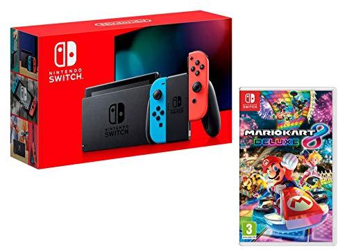 Nintendo Switch console Rouge Néon/Bleu Néon32Go + Mario Kart 8 Deluxe