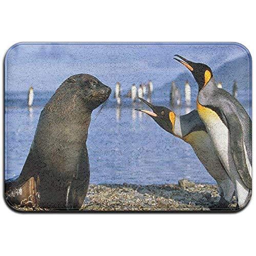 Joe-shop Tapijt Anti-slip Vlek Fade Resistant Deur Mat Baby Zee Leeuwen en Pinguïn Outdoor Indoor Mat Room Tapijt