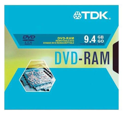 TDK Systems DVD-RAM 9.4GB Type IV 2X-DS (DVD-RAM94Y4BX)