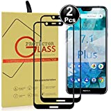 Ash-case [2 Pack Nokia 7.1/8.1 Plus Tempered Glass Screen
