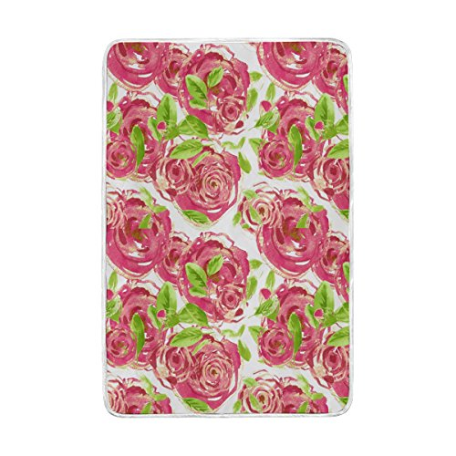 Lit Couverture, Luxe Fleur Rose Motif doux Doudou Polyester avec grande taille Polaire pour Jeté Canapé Housse de chaise de voyage Chambre à coucher Salon Adulte Fille Garçon Homme Femme 152