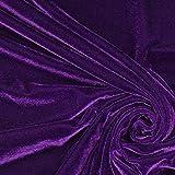 Fabulous Fabrics Samt lila, Uni, 147cm breit – Samt zum