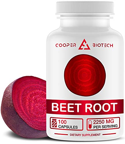 Beet Root Capsules - Concentrated Organic Beet Root Powder Supplement Extracted from Beet Juice - Blood Pressure Supplement - Nitric Oxide Boosting Beetroot