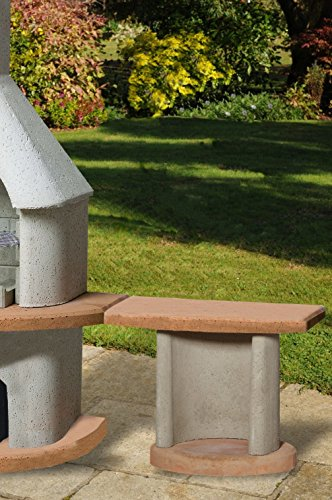 51SywHduV5L - Buschbeck Grill Zubehör, Beistelltisch Georgia, grau-terra, 41 x 70 x 57 cm, 90078.001