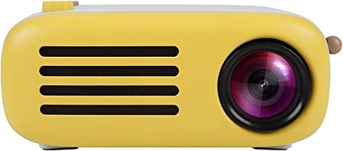 SoarUp Mini Home HD Projector, HD 1200P 1200 lumens, 24-60 inches Projection, Compatible with AV/USB Input/Card/Small TF Card/HDMI/VGA Input(US)