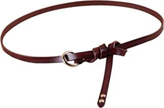 thin leather belt womens
