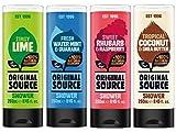 Original Source Gel de ducha Set 4 x 250 ml NUEVAS fragancias lima, ruibarbo y frambuesa, ...