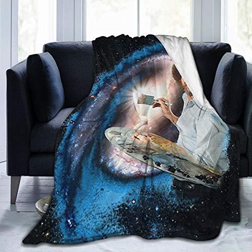 Otikiu B-ob Art Ro-ss Throw Blanket Ultra Soft Lightweight Bed Quilt Home Decor Fleece Blanket Sofa Carpet for Men Women Kids,80'' X60