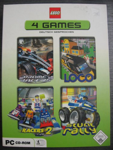 LEGO 4 PC GAMES : Bionicle - Drome Racers / Loco / Racers 2 / Stunt Rally