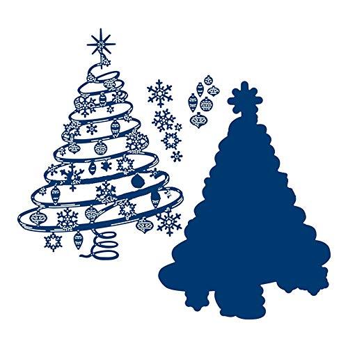 Spiral Christmas Tree Metal Cutting Dies Stencils for DIY Scrapbooking Paper Cards Crafts Embossing Diy New 2019 Die Cut