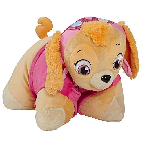 Pillow Pets Nickelodeon Paw Patrol, Skye Helicopter Pilot, 16' Stuffed Animal Plush Toy