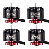 Crazepony-UK Emax 4pcs RS1306B 2700KV Brushless Motor 3-4S Compatible with 3 inch Propeller 3024 3045 Props for 130 150 160 180 FPV RC Drone Frame Racing Quadcopter Multirotor