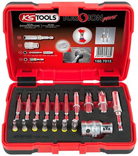 "KS Tools 150.7015 1/4"" + 10 mm Spezial-TX-Schrauben-Ausdreher-Satz, 18-TLG"