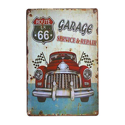 Carlena Garage Service Reparatur Metall Art Blechschild Vintage Folie Poster für Geschäft Bar Home Wall Decor 20,3 x 30,5 cm