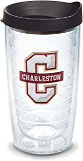 Tervis 1133361 Charleston Cougars Logo Tumbler with Emblem and Black Lid 16oz, Clear