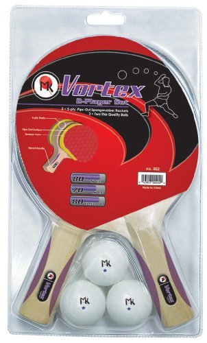 Butterfly Vortex 2-Player Set Table Tennis Rackets by Martin Kilpatrick