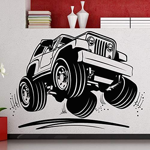 WSYYW Truck Wall Decal Cool Car Wall Sticker Vinyl Art Wall Decor for Nuraery Boys Room Deocration Design Wallpaper A3 78X57CM