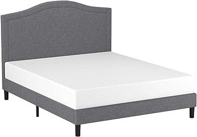 Amazon Com Zinus Upholstered Geometric Paneled Platform