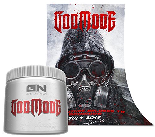 Special Edition GN Laboratories - GODMODE 2020 - Pre-Workout Hardcore Booster Trainingsbooster Bodybuilding 350g (Peach - Pfirsich) inkl. Poster After Beastmode comes Godmode