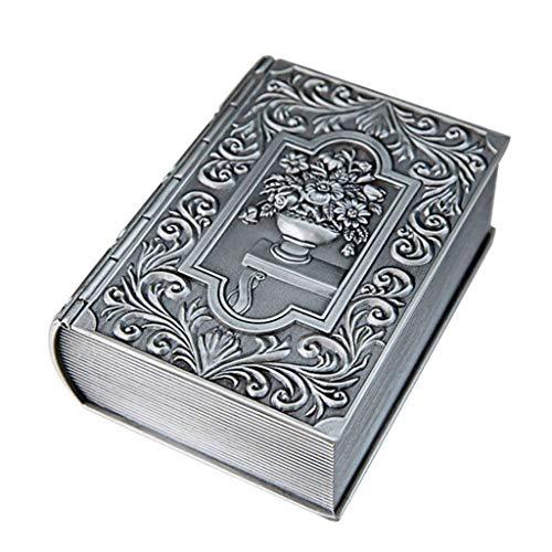 Joyero Joyería Creativa Libro Caja for Mujeres, joyería Caja de Almacenamiento de Collar de Reloj Anillo, Día de San Valentín Día de la Madre Almacenamiento de Escritorio