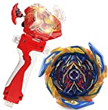 Mopogool Sparking Launcher Bey Burst Evolution Turbo Blade Battling Top String Launcher Grip B-163 Booster SuperKing Brave Valkyrie.Ev'2A Starter Set Metal Fusion Gaming Top Spinning Toy Gift for Boy