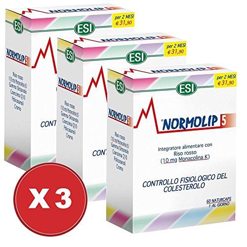 Aanbieding! Normolip5 3 verpakkingen met 60 tabletten - Esi