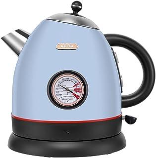 ASKLKD Couturière électrique de 1,7L avec teneur en Eau Thermomètre Thermomètre Théaire Thé Pot de café 1800W 304 Acier In...