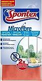 Spontex Microfibre - Panno speciale per finestre, in microfibra, ideale per superfici in vetro senza aloni, pulizia efficiente senza prodotti chimici, 30 x 30 cm, confezione da 1 pezzo